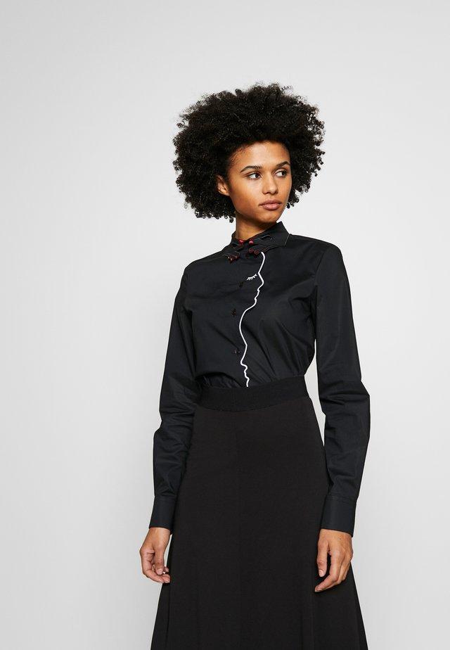 CAMICIA - Button-down blouse - black