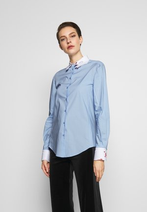 Button-down blouse - celeste
