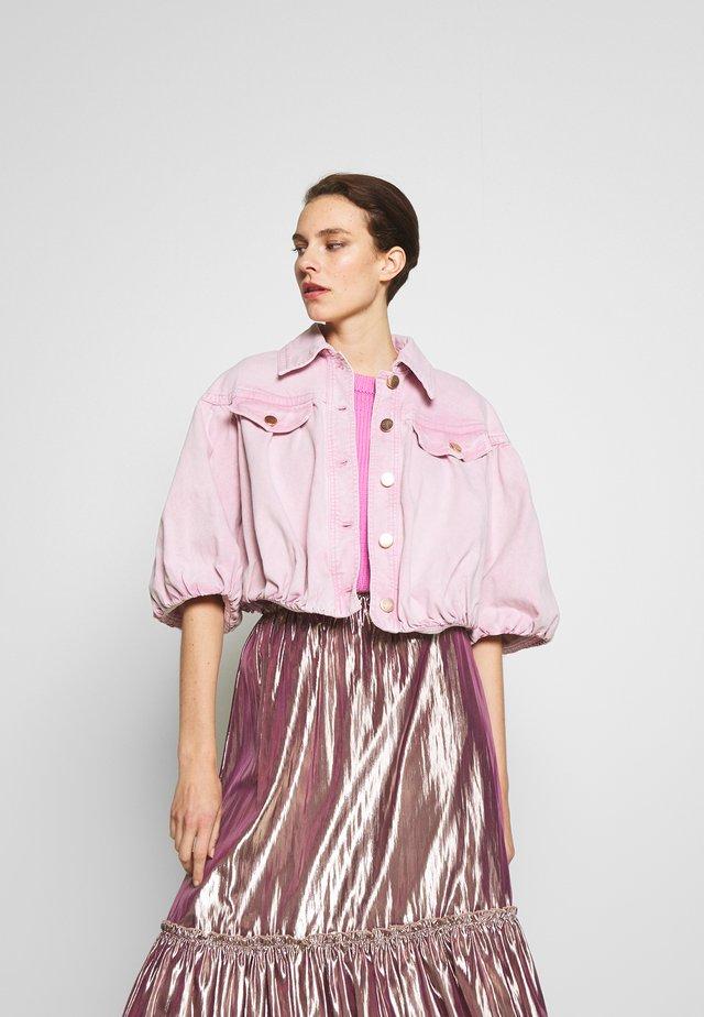 SPORT JACKET - Denim jacket - pink