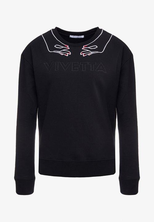 Darmowa dostawa Vivetta FELPA - Bluza - black Odzież Damska HSRK-IR1