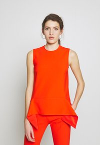 Victoria Victoria Beckham - DRAPE DETAIL SHELL - Blouse - flame red - 0