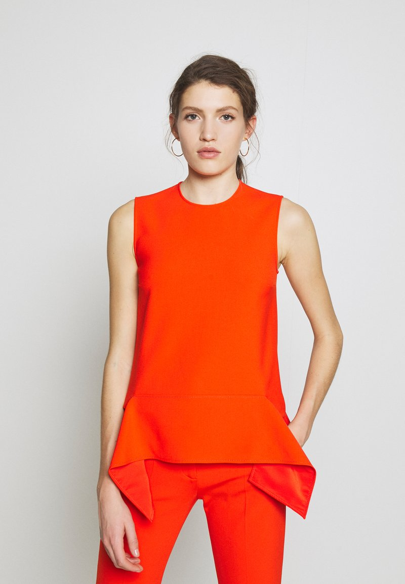 Victoria Victoria Beckham - DRAPE DETAIL SHELL - Blouse - flame red