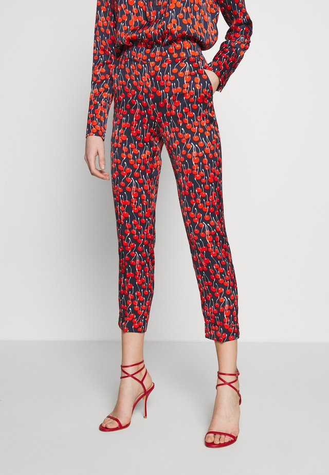 CHERRY PRINT TROUSER - Trousers - midnight