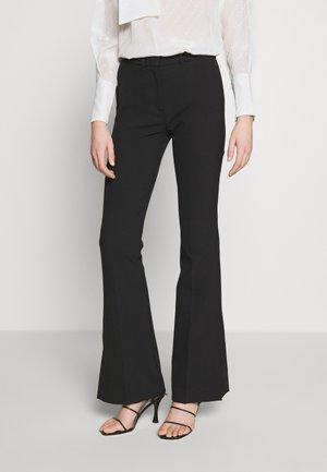SPLIT HEM TUXEDO TROUSER - Trousers - black