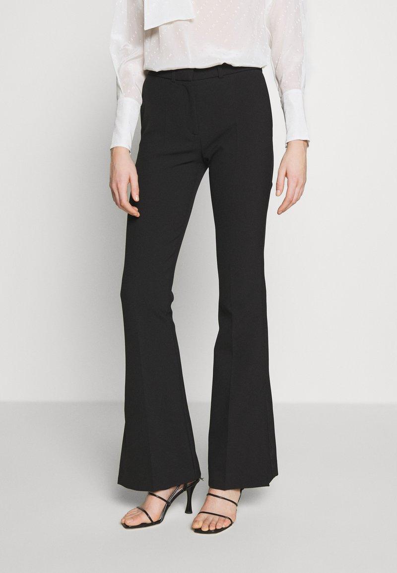 Victoria Victoria Beckham - SPLIT HEM TUXEDO TROUSER - Pantalones - black