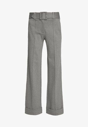 HIGH WAIST WIDE LEG TROUSERS - Pantaloni - iron grey