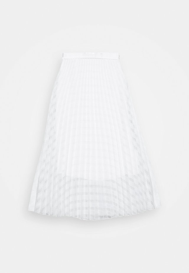 PLEATED SKIRT - A-linjekjol - white