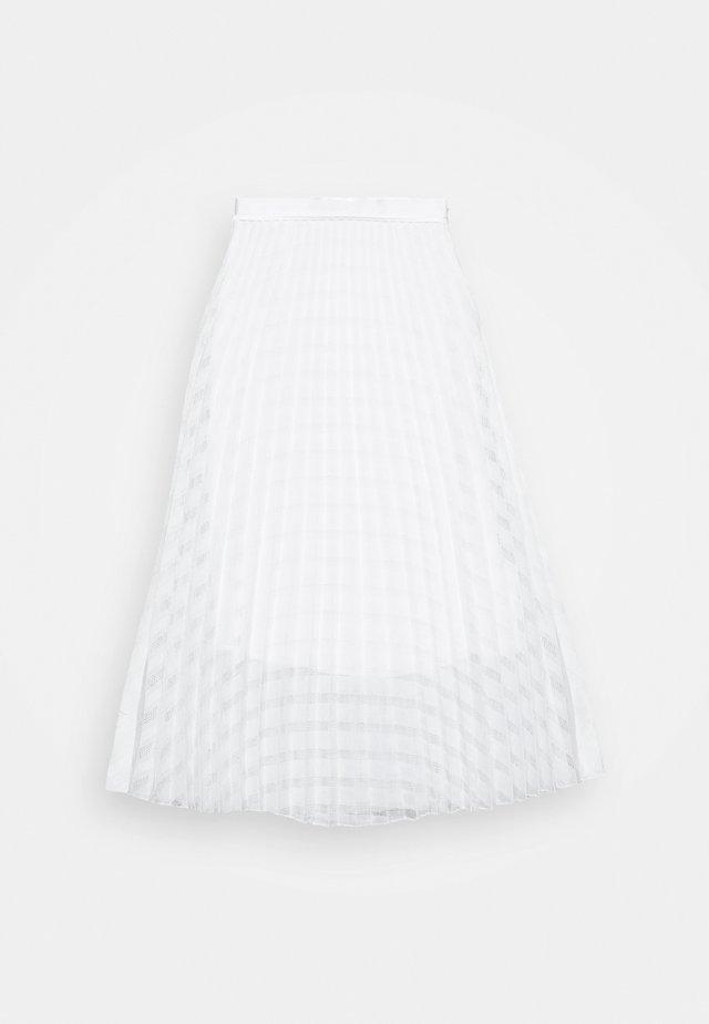 PLEATED SKIRT - Spódnica trapezowa - white