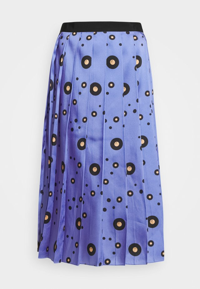 PLEATED SKIRT - Áčková sukně - blue