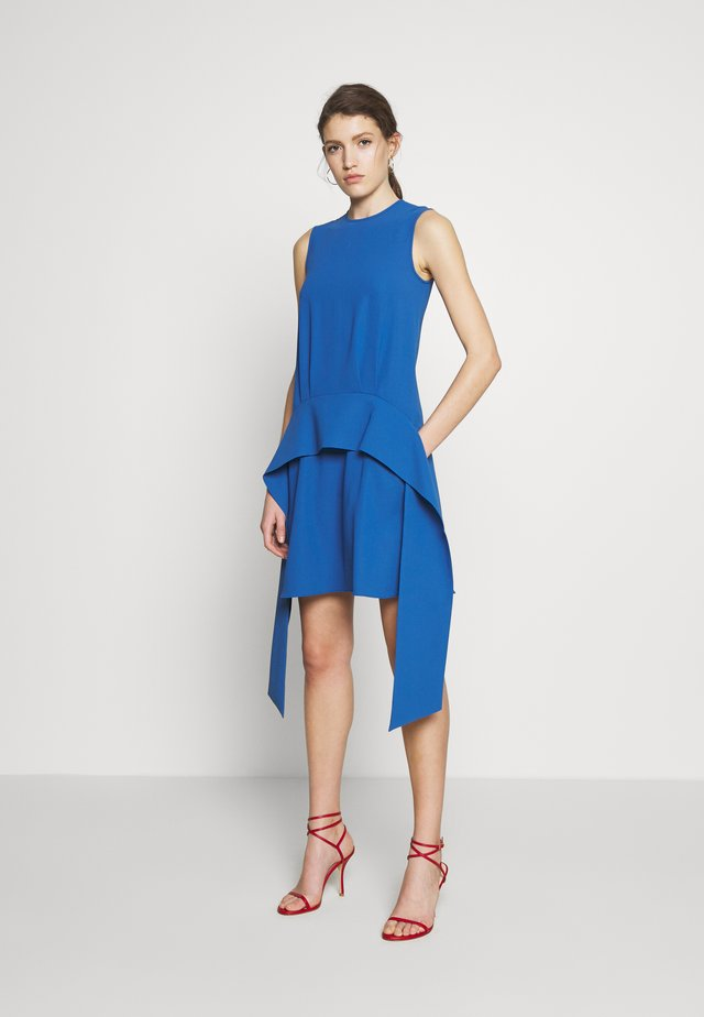 SCARF DRESS - Korte jurk - mid blue