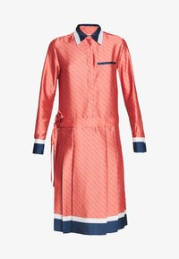 Victoria Victoria Beckham - LOGO PLEATED SHIRT DRESS - Shirt dress - multi-coloured - 6