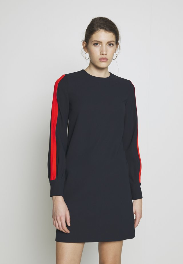 SLIT SLEEVE SHIFT DRESS - Korte jurk - midnight blue