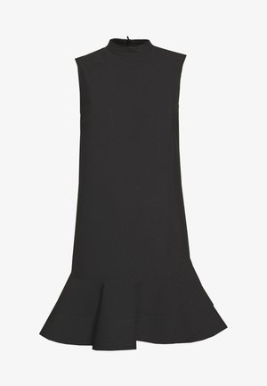 SLEEVELESS PEPLUM HEM DRESS - Day dress - black
