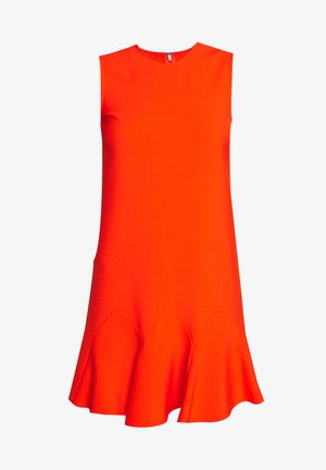 FLOUNCE HEM SHIFT DRESS - Korte jurk - flame red