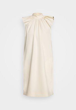 RUCHED SHOULDER SLEEVLESS DRESS - Day dress - ecru