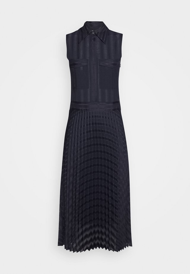 PLEATED DETAIL DRESS - Skjortekjole - midnight blue