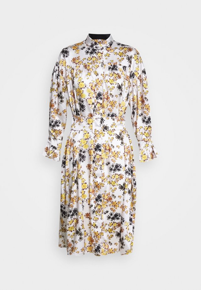 TIE SLEEVE DRESS - Skjortekjole - ditsy mustard