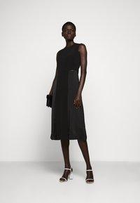 Victoria Victoria Beckham - SLIT DETAIL DRESS - Denní šaty - black - 1