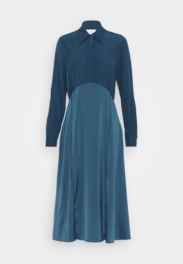 BUTTON FRONT MIDI DRESS - Robe chemise - blue slate