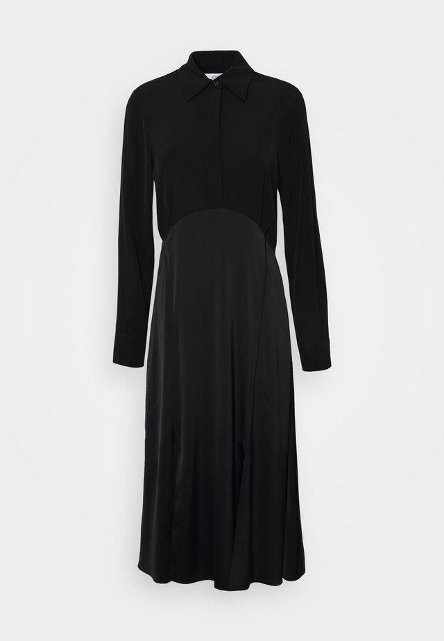 BUTTON FRONT MIDI DRESS - Sukienka koszulowa - black