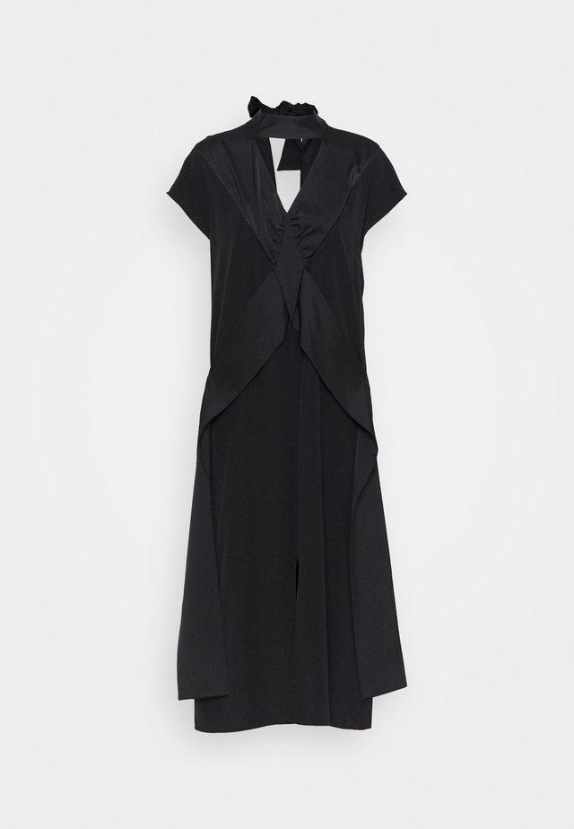 DIAMOND DRAPE DRESS - Sukienka koktajlowa - black