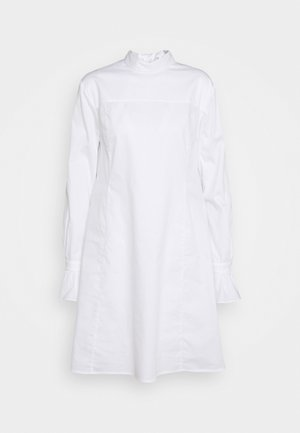 TIE NECK SHIRT DRESS - Abito a camicia - white