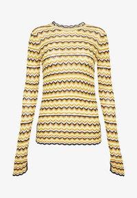 Victoria Victoria Beckham - ZIG ZAG TOP - Camiseta de manga larga - fluro yellow - 5