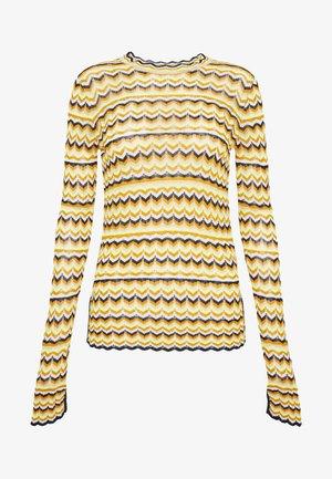 ZIG ZAG TOP - Long sleeved top - fluro yellow