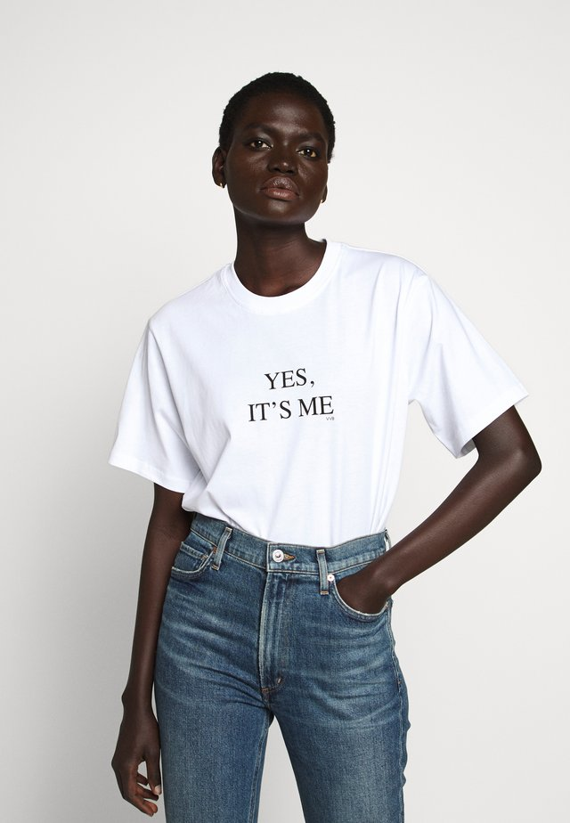 IT'S ME - T-shirt print - white