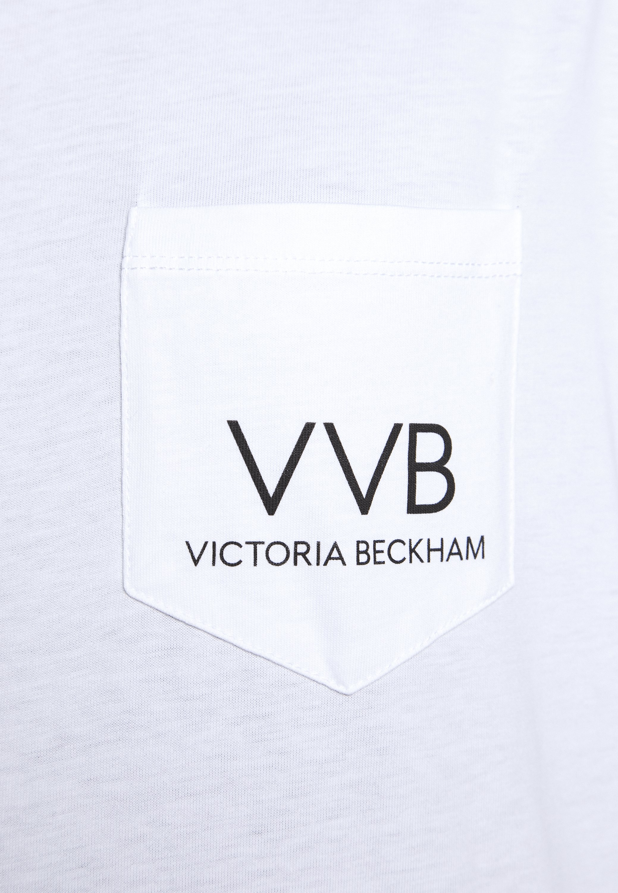 Victoria Beckham Pocket Logo - T-shirt Print White Black Friday