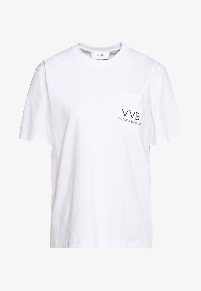 POCKET LOGO - T-shirt med print - white