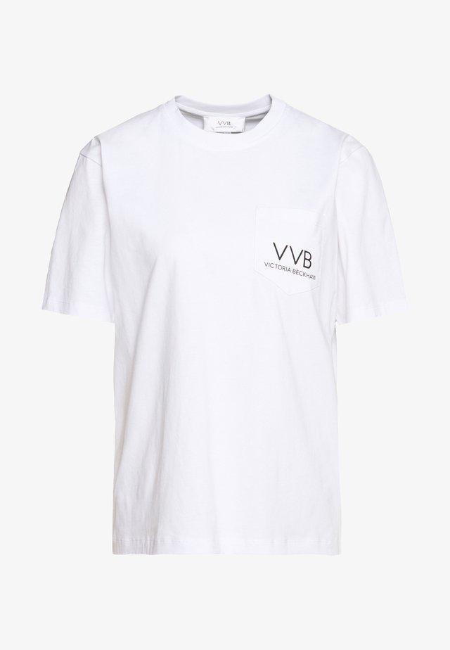 POCKET LOGO - T-shirt z nadrukiem - white
