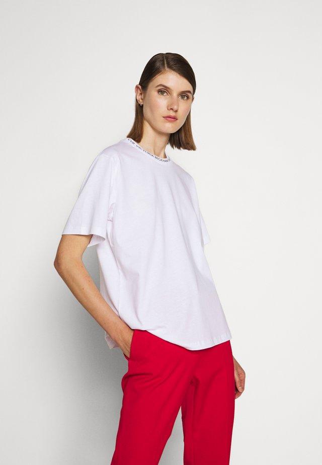 LOGO - T-shirt print - white