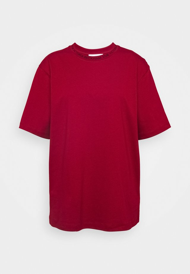 LOGO - Print T-shirt - cherry red