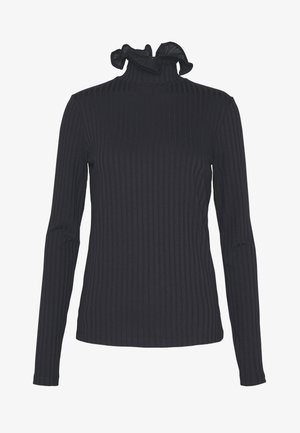 RUFFLE TURTLENECK - Maglietta a manica lunga - midnight blue