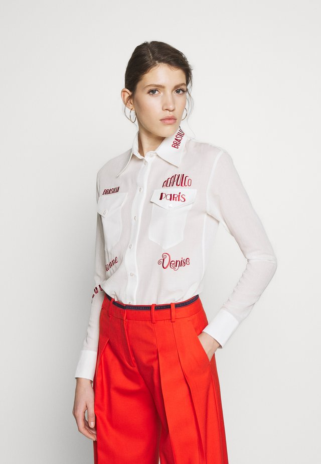CITY EMBROIDERED - Blouse - white