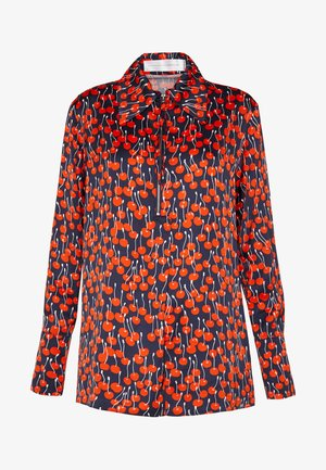 CHERRY PRINT ZIP FRONT - Blůza - midnight