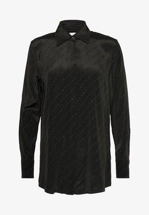 SPLIT SLEEVE SHIRT - Overhemdblouse - black