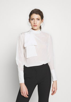 SCARF NECK - Blouse - white