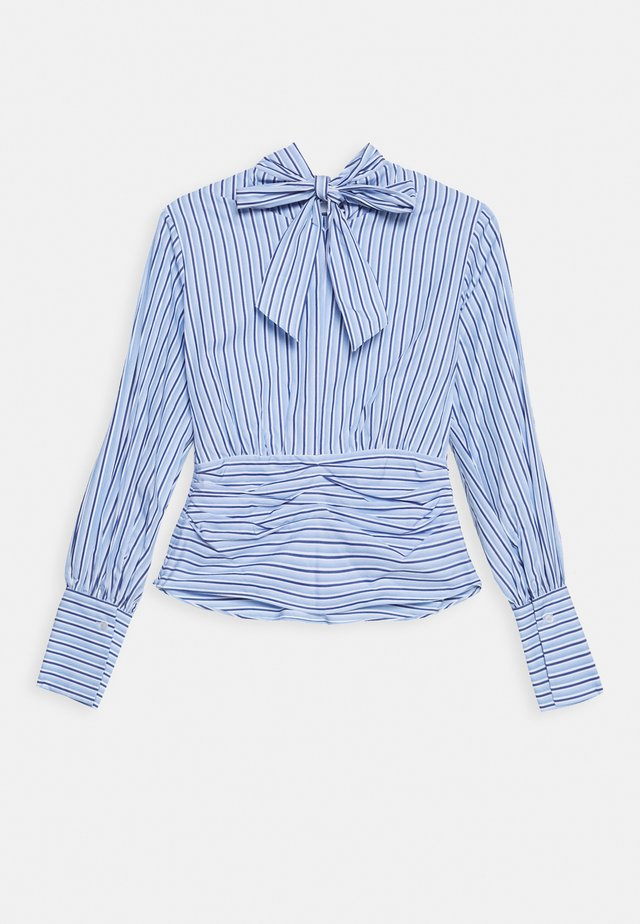 SPLIT FRONT - Bluser - pool blue white
