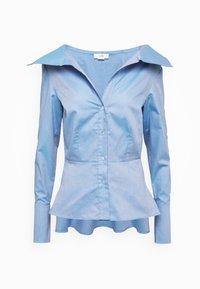 Victoria Victoria Beckham - OFF SHOULDER SHIRT - Skjorta - pool blue - 6