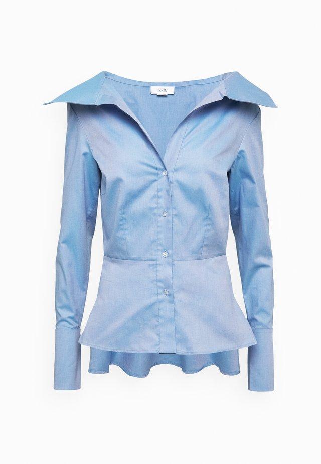 OFF SHOULDER - Skjorte - pool blue