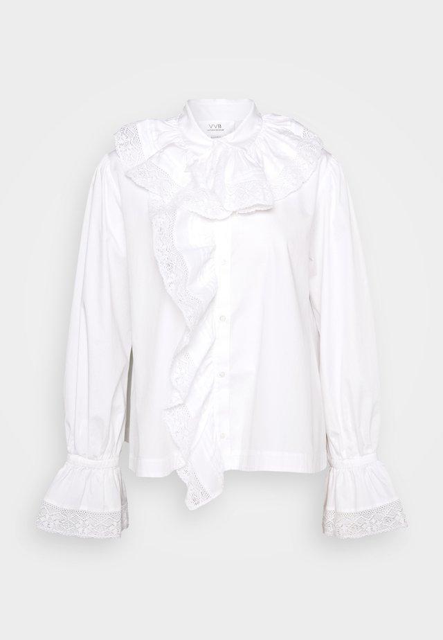 RUFFLE  - Bluser - white
