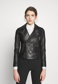 Victoria Victoria Beckham - BIKER JACKER - Leather jacket - black - 3