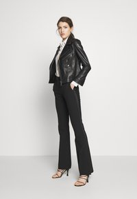 Victoria Victoria Beckham - BIKER JACKER - Leather jacket - black - 1