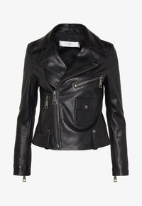 Victoria Victoria Beckham - BIKER JACKER - Leather jacket - black - 6