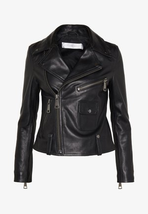 BIKER JACKER - Leather jacket - black
