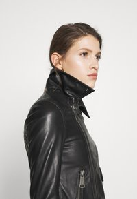 Victoria Victoria Beckham - BIKER JACKER - Leather jacket - black - 4