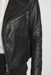 Victoria Victoria Beckham - BIKER JACKER - Leather jacket - black - 7