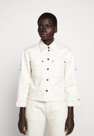 SLEEVE JACKET - Denim jacket - off-white